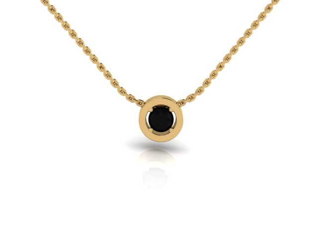 """""""Square Peg in a Round Hole"""" Sisterhood Pendant in Yellow Gold Emerald Gemstone and 14k Yellow Gold Chain"""